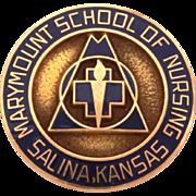 10K Marymount School of Nursing in Salina Kansas Pin, 10k Gold & Dark Blue Enamel, Nurse ...