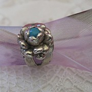 Wonderful Old Floral Baby Ring