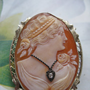 14K  Cameo Pin - Pendant   Habille