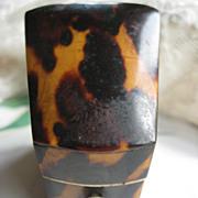 SOLD Victorian Tortoise Needle Box   Wonderful