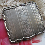Art Nouveau: 835 Silver: German: Compact