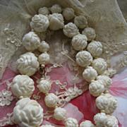 Art Deco Celluloid Roses Necklace