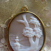 SOLD Cameo Mourning Pendant      Turn Of The Century