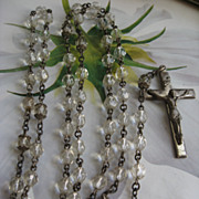 SALE Vintage Creed Sterling Rosary    First Communion Gift