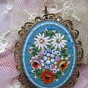 SALE Mosaic Pin Pendant    Older Vintage