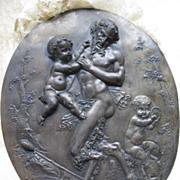 Antique Bronze Coated Mythological SculptureJean Baptiste Germain 1868    Paypal not accepted