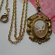 Victorian Butterfly Cameo