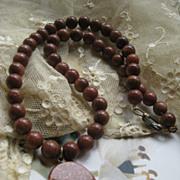 Older Vintage Gold Stone Necklace