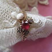 Victorian Rose Cut Diamond & Paste Ring  Original Box