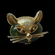 Bakelite Cat Pin