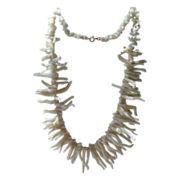 Angel Skin Coral Branch Necklace   Fabulous