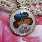 SALE PENDING Antique Butterfly Locket in Gold Fill
