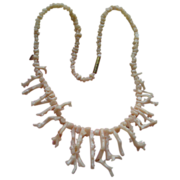 Angel Skin Coral Branch Necklace