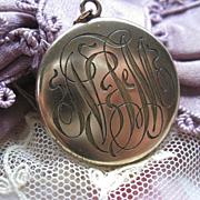 Antique Locket in Gold Fill
