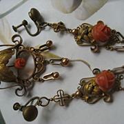 SALE Victorian Coral Rose Suite