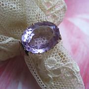 SALE Victorian 10K Amethyst Ring    Size 8