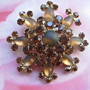 Juliana Chocolate Snowflake Pin