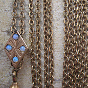 Victorian Ladies Watch Chain in Gold Fill