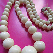 Vintage White Angel Skin Coral Necklace