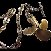Antique Watch Chain Marine Propeller Fob
