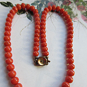 Antique Coral Necklace 18.8 grams