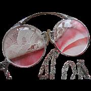 Deco White Gold Fill Lorgnette Necklace, Downton Abbey Accessories, Vintage Lorgnette