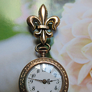 Antique Ladies Pocket Watch TLC, Watch Pin