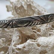 Danecraft Felch Sterling Bangle Bracelet, Deco 1939 Worlds Fair Design