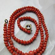 Antique Natural Coral Necklace