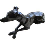 Deco Spelter Dog Statue
