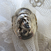 Antique Lady Liberty Coin Ring 1916