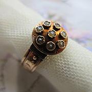 Victorian 10K Memorial Hair Ring  Hidden Chamber Inside Band