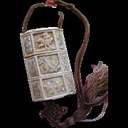 Vintage Carved Bone Snuff Necklace