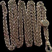 Victorian Ladies Watch Chain, Antique Slide Necklace