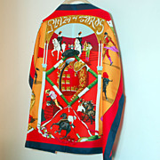 SALE Vibrant Authentic Hermes Silk Scarf Plaza de Toros