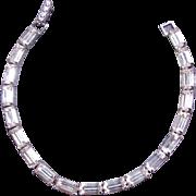 Kramer Emerald Cut Baguette Shape Rhinestone Tennis Bracelet