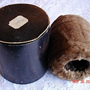 SOLD Victorian Extremely Soft Brown Otter Fur Muff with Original Box - Red Tag Sale Item