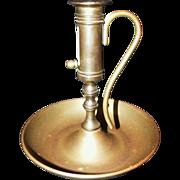 SOLD Vintage Brass Push-up Chamberstick