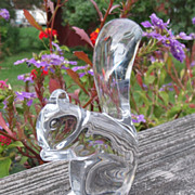 SOLD Baccarat Crystal Squirrel Figurine Paperweight
