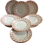 SOLD 12 Royal Doulton for Tiffany & Company Jacobean Pattern Plates