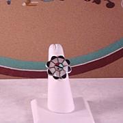 Zuni Sunface Ring ca 1970's