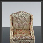 SOLD Ideal Petite Princess Miniature #4410-7 Salon Wing Chair ca 1964