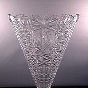SALE Vintage Byrdes Collection Fan Vase ca 1970-80's