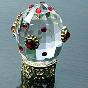 SOLD Miniature Hand Decorated Crystal Egg