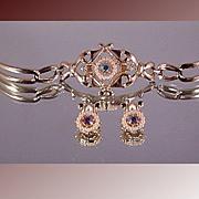 SALE Vintage Tara Bracelet and Earring Set ca 1960's