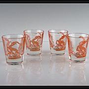 SALE Set of Gazelle Shot Glasses ca 1951-1960