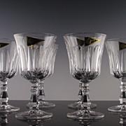 SALE Royal Crystal Rock Pattern #9 Water/Large Wine Goblets