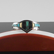 SALE Sterling and Turquoise Bracelet ca 1975