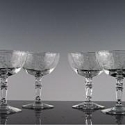 SALE Set of 4 Fostoria's Buttercup Low Sherbet ca 1941-1959