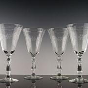 SALE Libbey Rock Sharpe Water/Large Wine Glasses